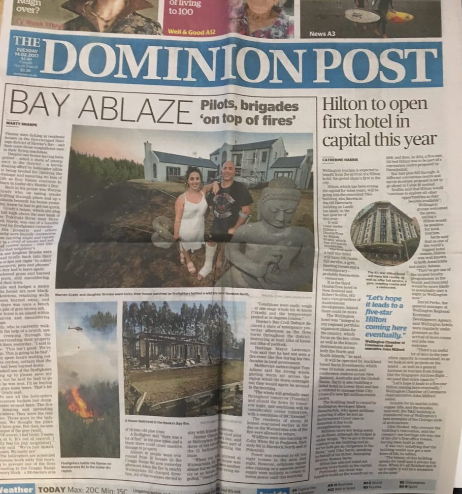 The Dominion Post- Hilton cover